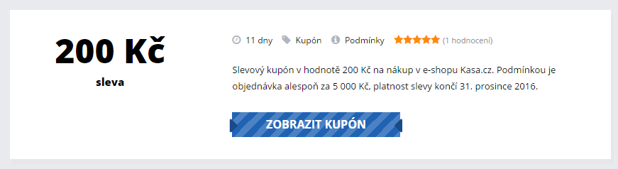 Slevový kupón Kasa.cz
