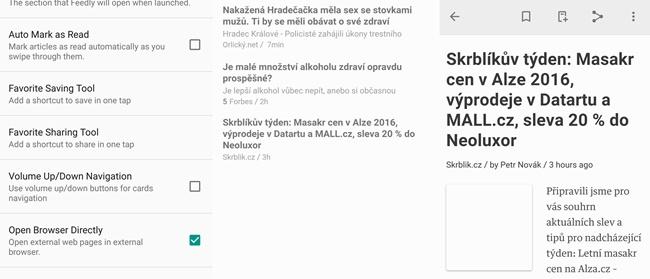 Aplikace Feedly - RSS čtečka v mobilu