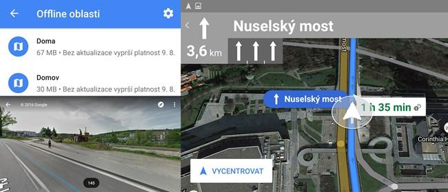 Aplikace Google Mapy
