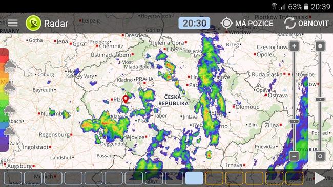 Aplikace Meteor - meteo mapa ČR