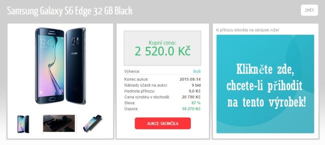 Aukce Levnější.net