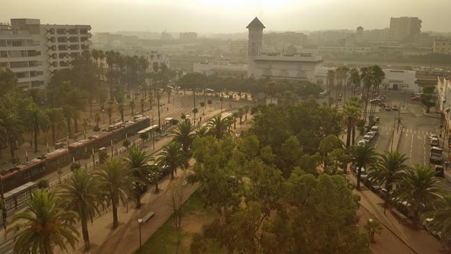 Výhled z hotelu Al Walid v Casablance
