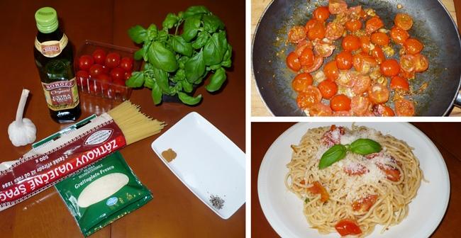 Skrblíkova kuchařka: Recept na špagety s rajčaty a bazalkou