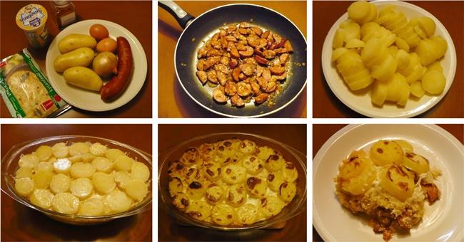 Skrblíkova kuchařka: Recept na zapečené brambory se zelím