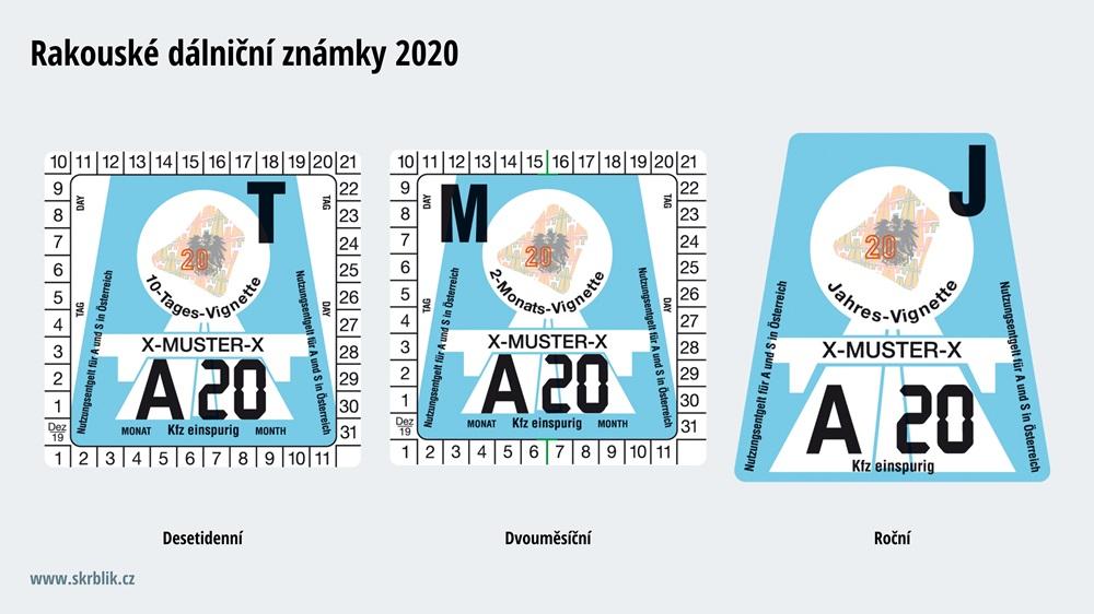 Dálniční známky Rakousko 2017