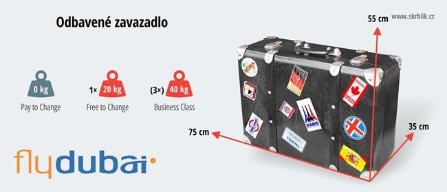 Odbavená (zapsaná) zavazadla u Flydubai 2017