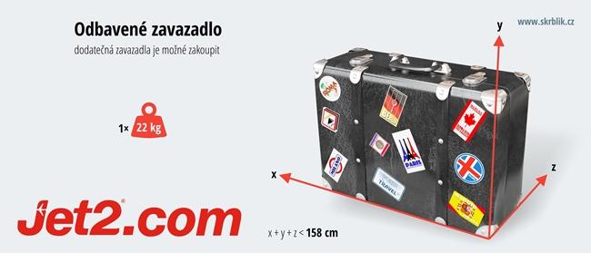 Odbavená (zapsaná) zavazadla u Jet2.com 2017
