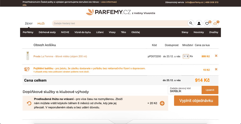 Slevový kód Parfémy.cz