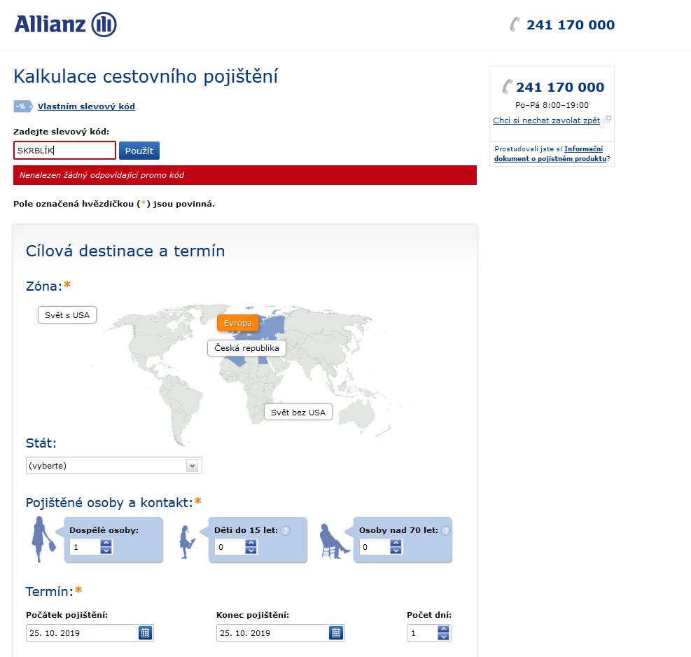 Slevový kód Allianz