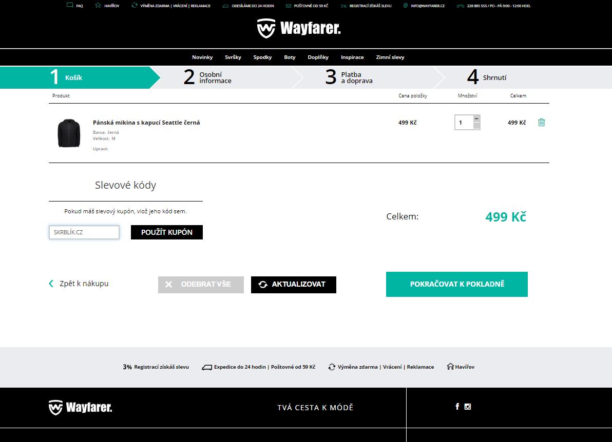 Slevový kód Wayfarer