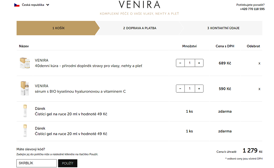 Slevový kód Venira