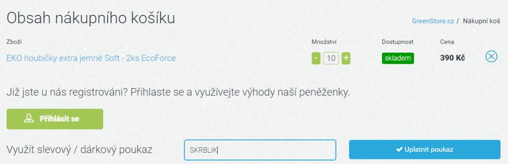 Slevový kód GreenStore