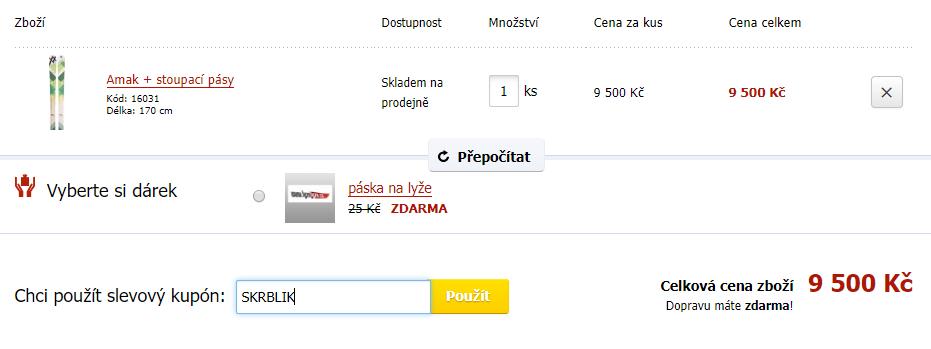 Slevový kód LyžeLyže.cz