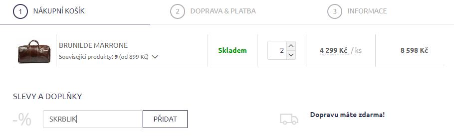 Slevový kód Nová kabelka