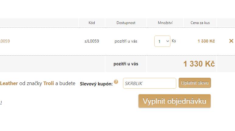 Slevový kód Šperky.cz