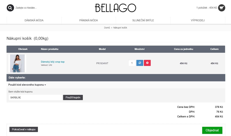 Slevový kód Bellago