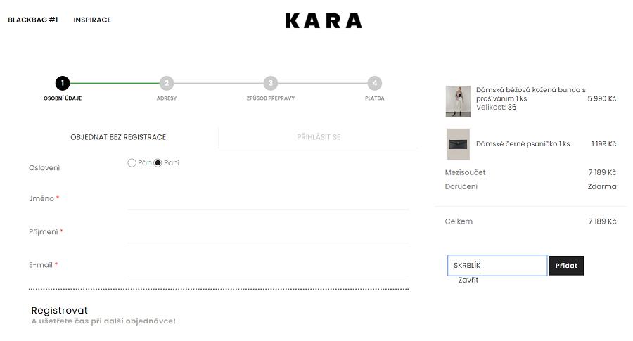 Slevový kód Kara