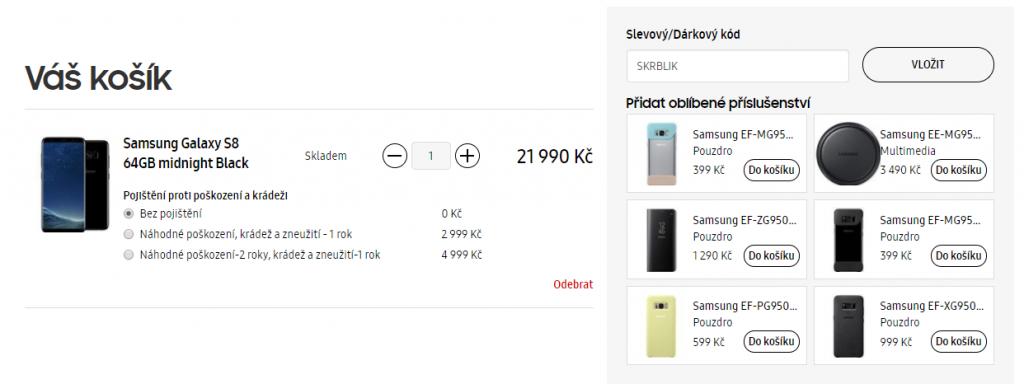 slevový kupón Samsung