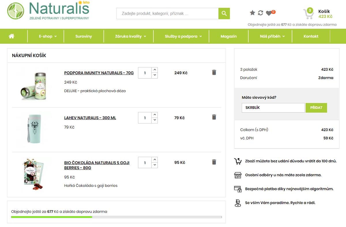 Slevový kód Superpotraviny Naturalis