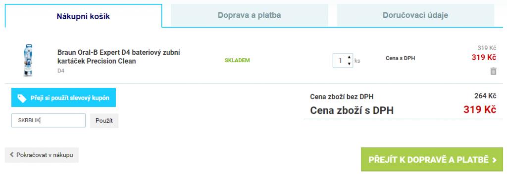 Slevový kód Zubní-Kartáček.cz