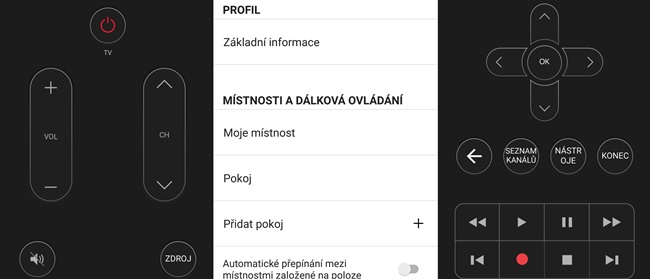 Aplikace Peel Smart Remote
