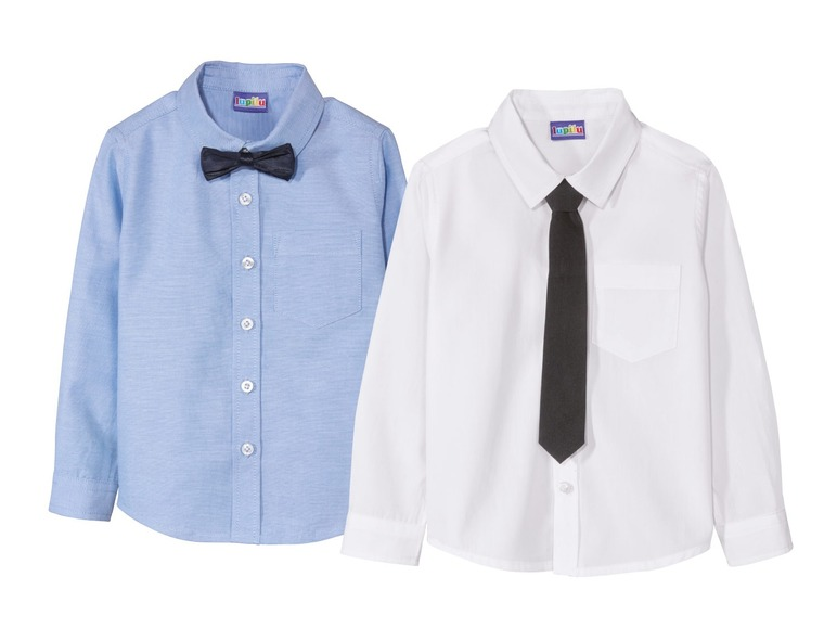 Chlapecká košile Lupilu s kravatou   motýlkem z Lidlu  a73260d0ef