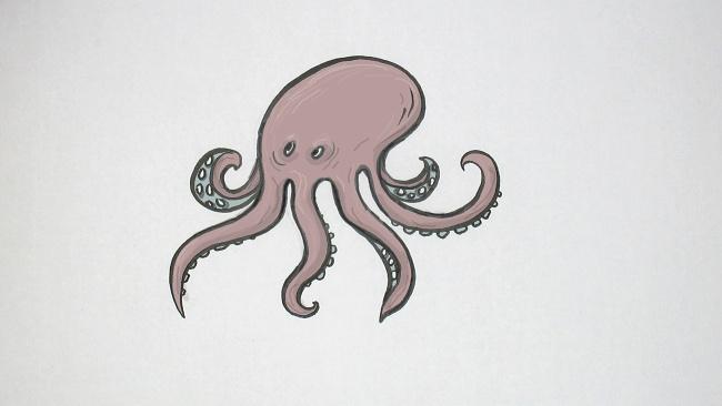 Jak nakreslit chobotnici