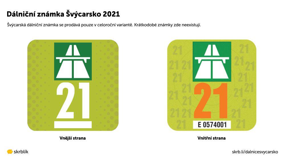 Dálniční známka Švýcarsko 2021