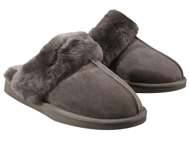 Dámská domácí kožená obuv sovčí vlnou Esmara