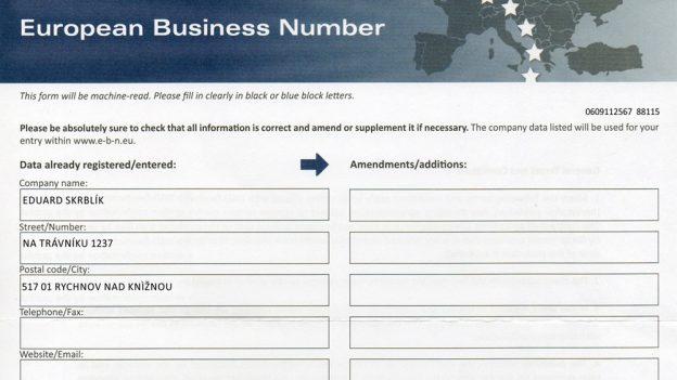 Dopis od European Business Number je podvod, jak zvás dostat 677 euro ročně