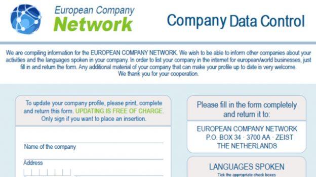 European Company Network je podvod, registrace vás bude stát 2985 eur