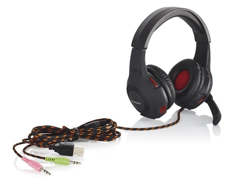 Herní sluchátka smikrofonem Silvercrest SGH 32 A1