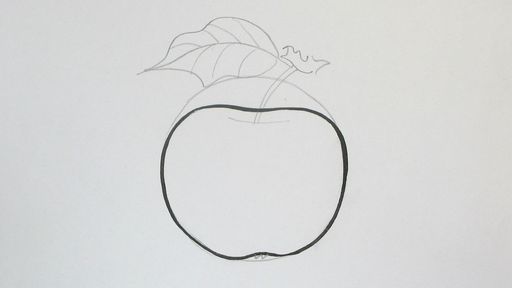 Jak nakreslit jabljo