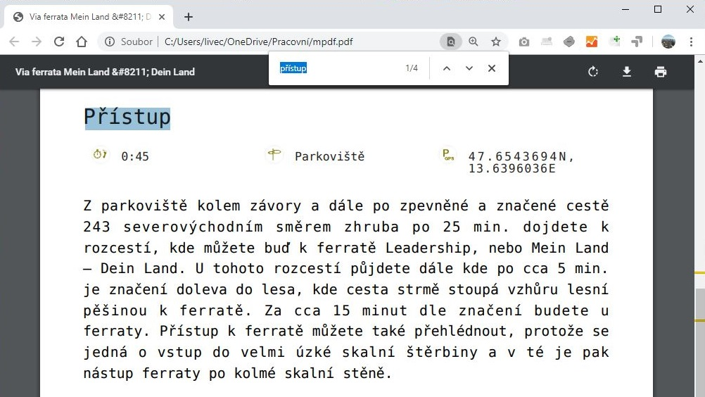 Jak hledat v PDF