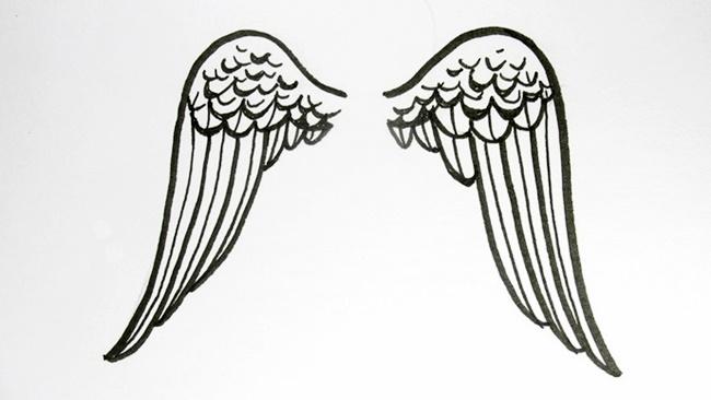 Jak nakreslit andělská křídla