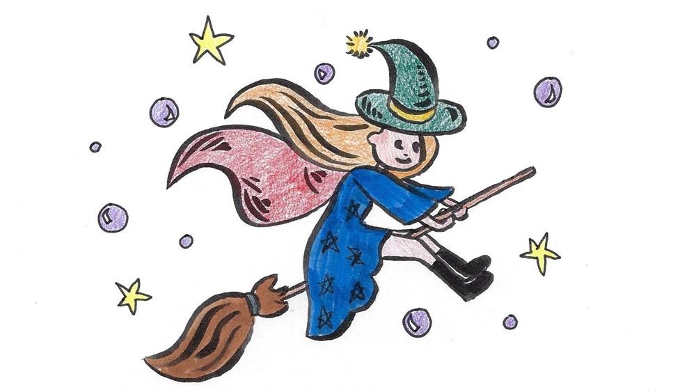 Jak nakreslit čarodějnici