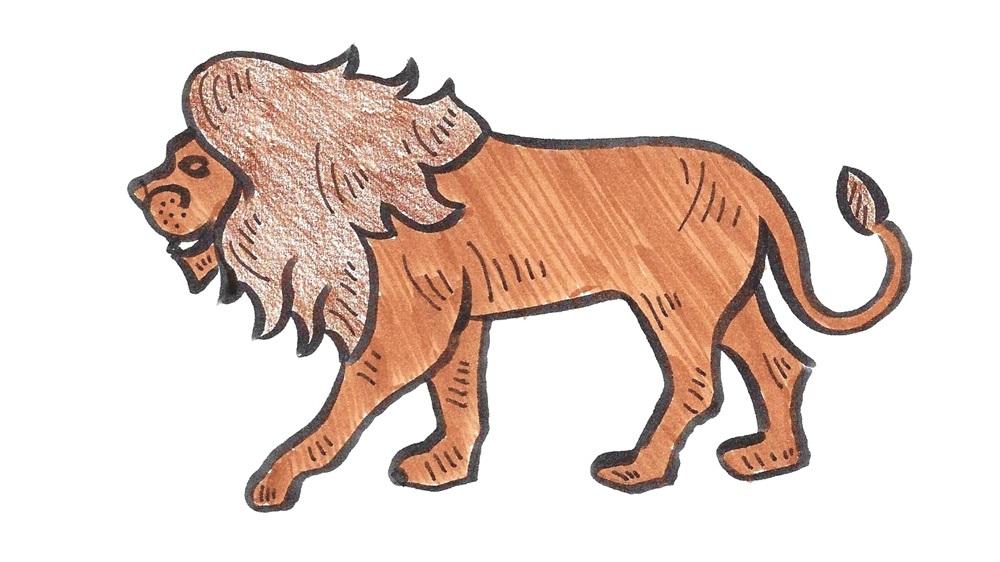Jak nakreslit lva