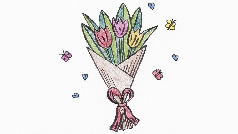 Jak nakreslit tulipán