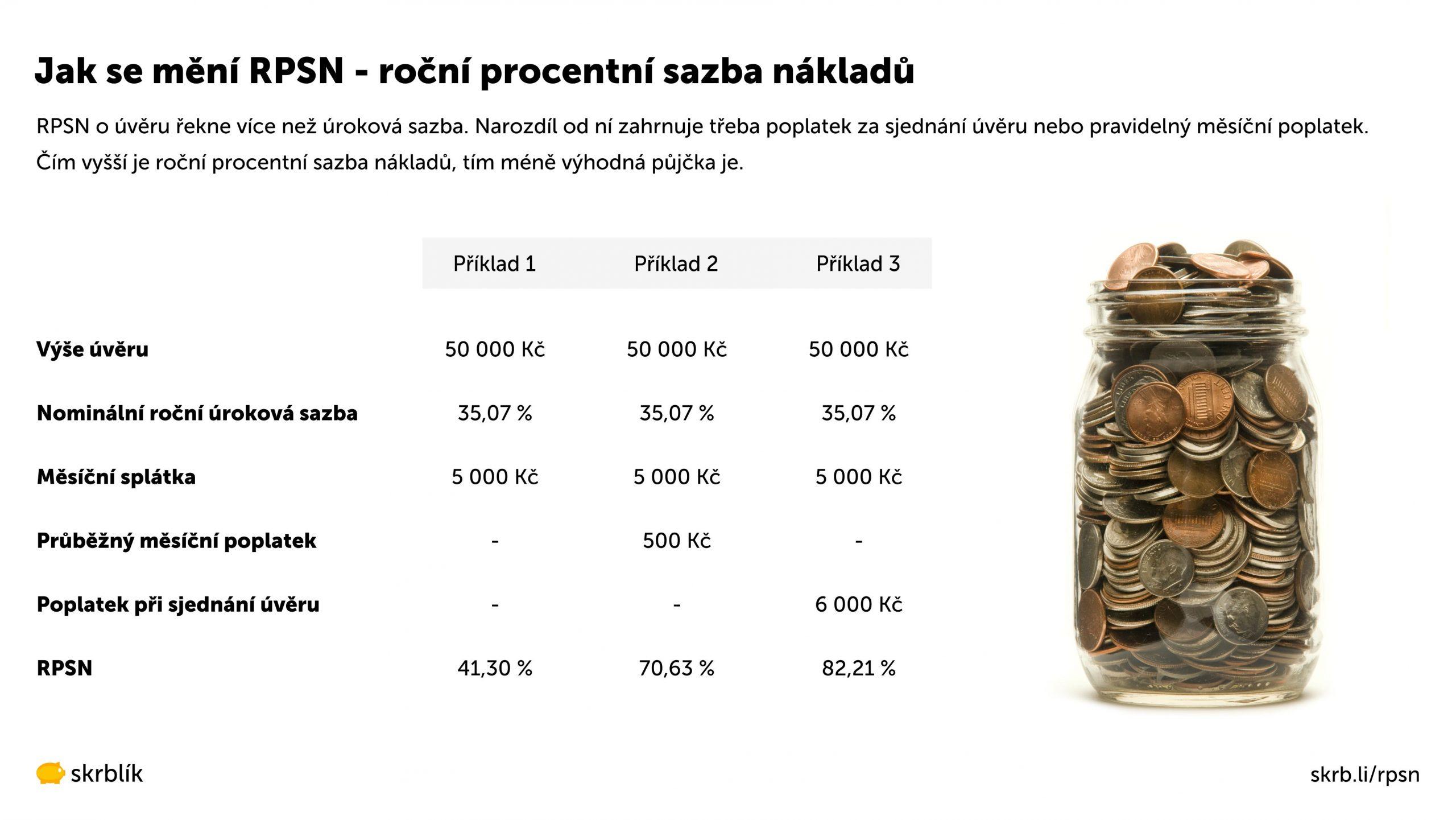 RPSN - roční procentní sazba nákladů