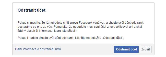 Jak si trvale deaktivovat Facebook 2021