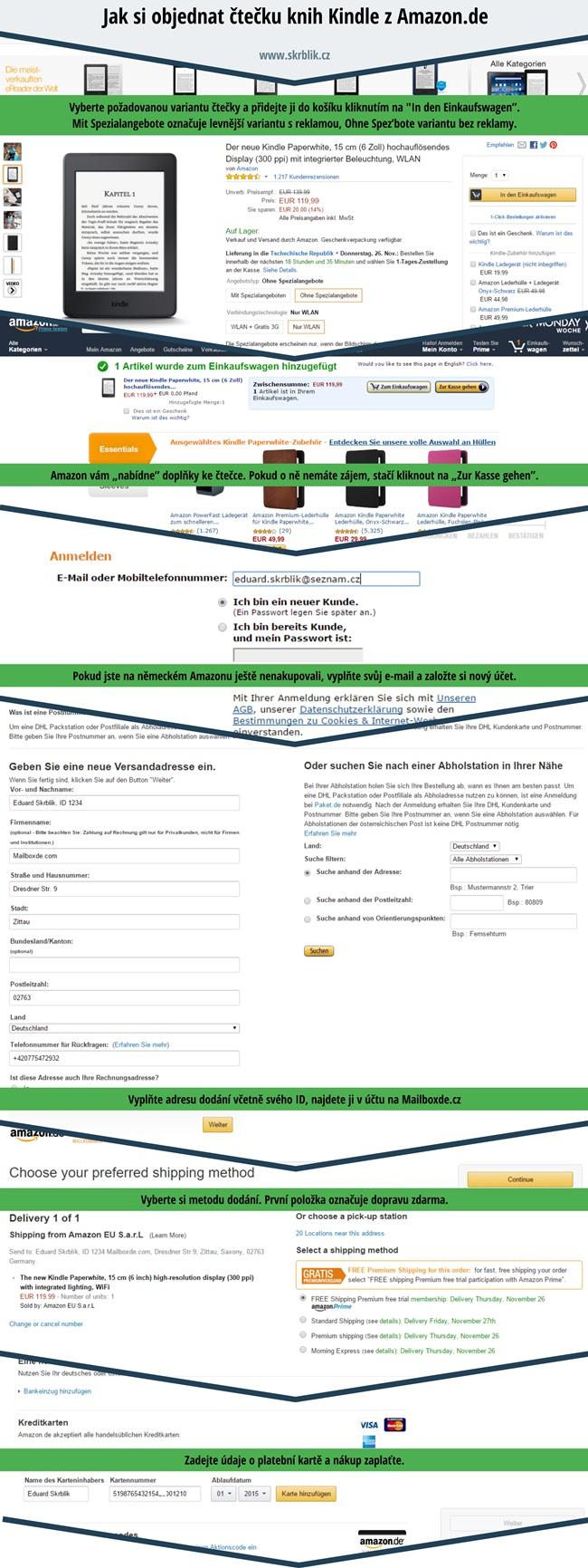 Jak si objednat Amazon Kindle