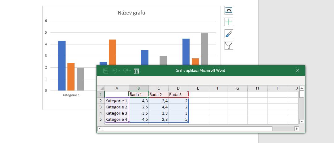 Jak vytvořit graf v Excelu