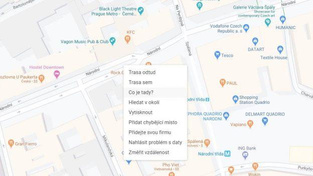 Jak zjistit GPS souřadnice