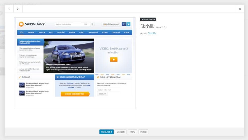 Jak zjistit šablonu WordPress