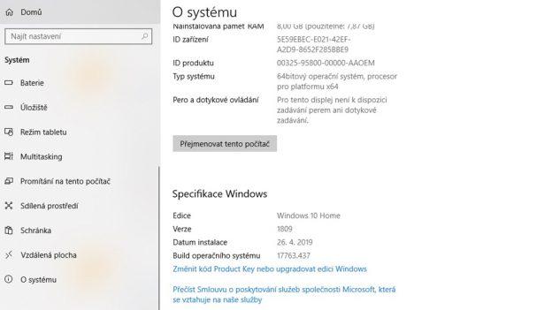 Jak zjistit verzi Windows