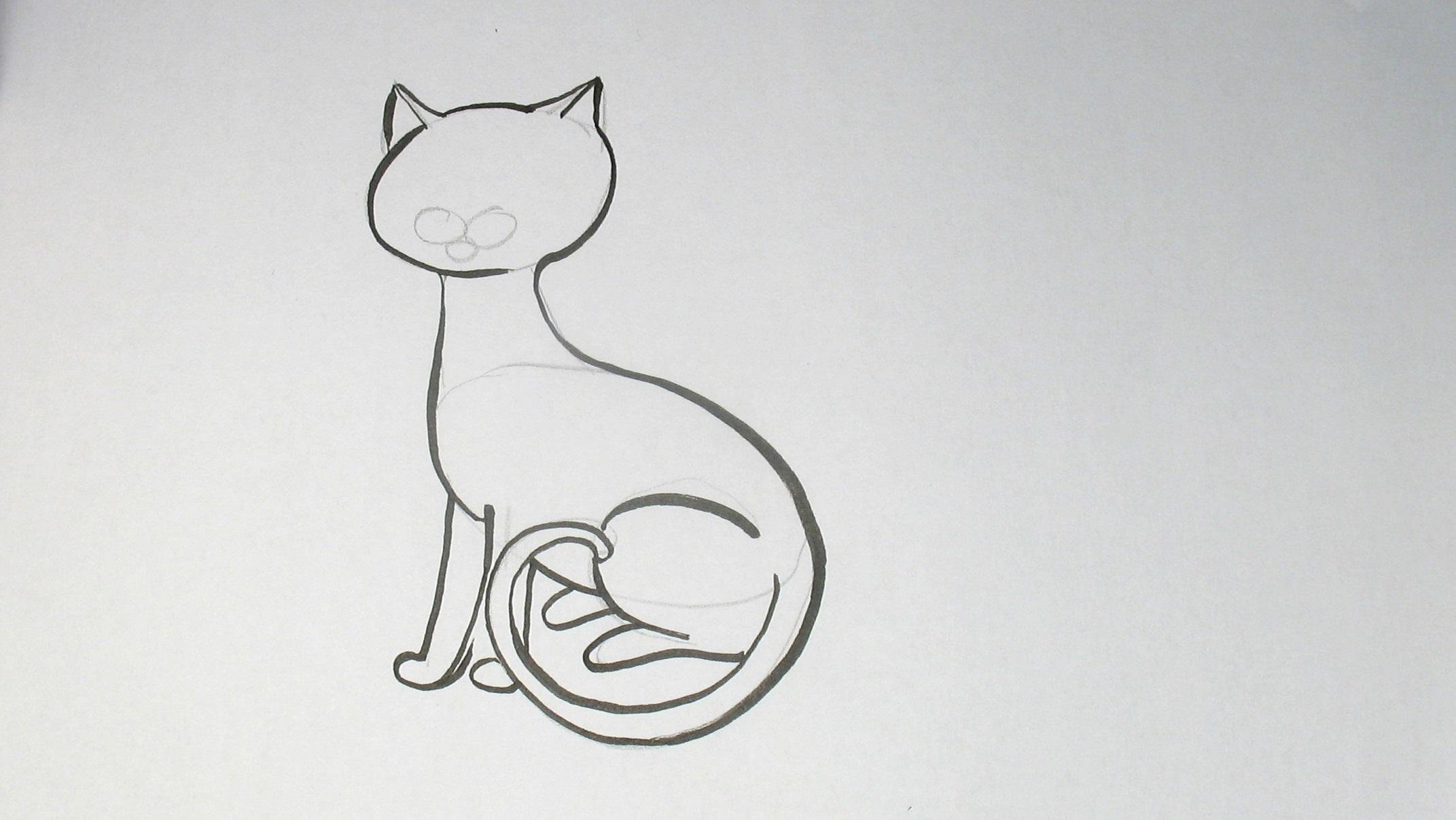 Jak nakreslit kočku
