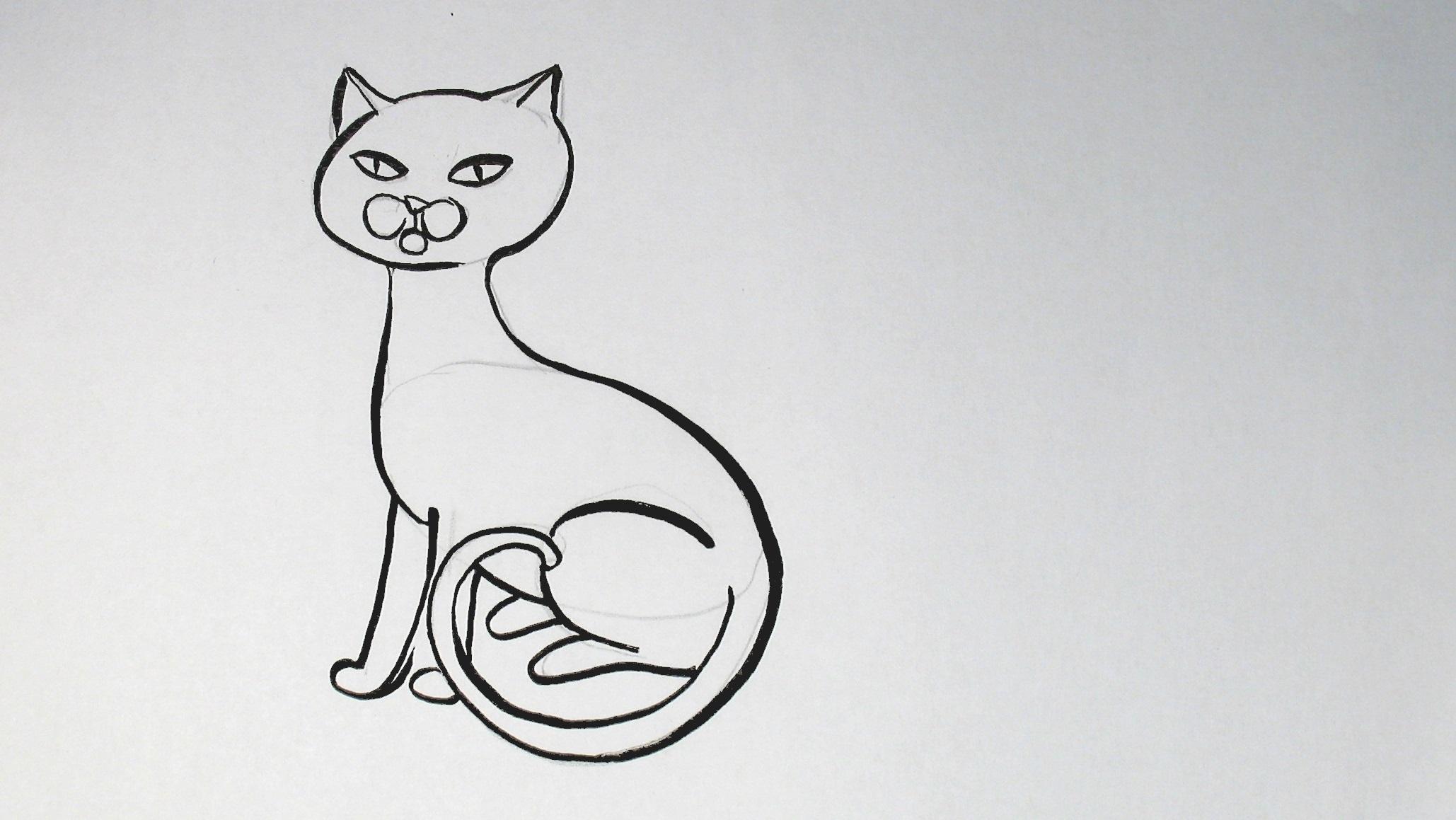 Péro k velké pro kočička