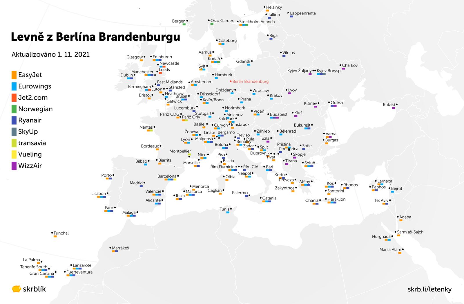 Levné letenky z Berlína Schönefeldu