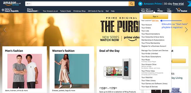 Jak nakupovat na Amazon.co.uk 2019: Kompletní návod v češtině