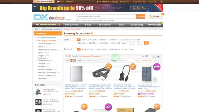 Návod jak nakupovat na dx.com / DealExtreme.com